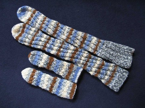 adult and baby spiral socks