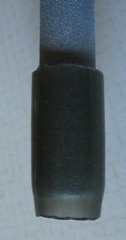 foot - plastic tubing over metal tubing